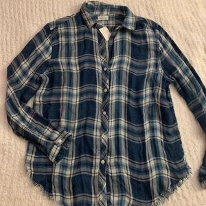 BRAND NEW WITH TAGS Blue Flannel